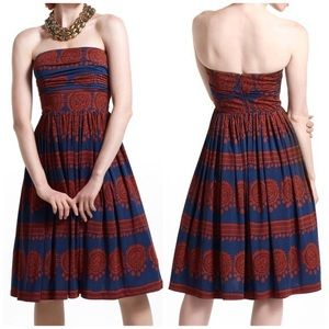 Girls From Savoy Anthro Strapless Boho Dress
